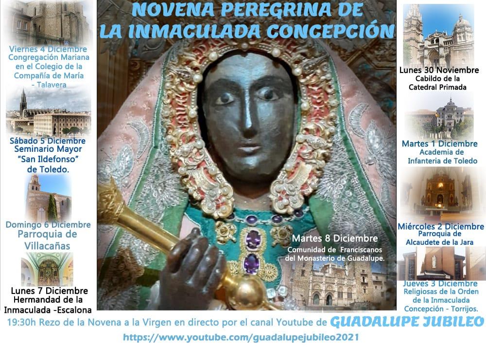 LA COMISIÓN DIOCESANA DEL JUBILEO DE GUADALUPE PROMUEVE LA PRIMERA NOVENA PEREGRINA DE LA INMACULADA CONCEPCIÓN