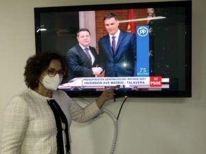 Riolobos censura que el PSOE vote en contra de las enmiendas del PP a los PGE para Talavera por valor de 90 millones
