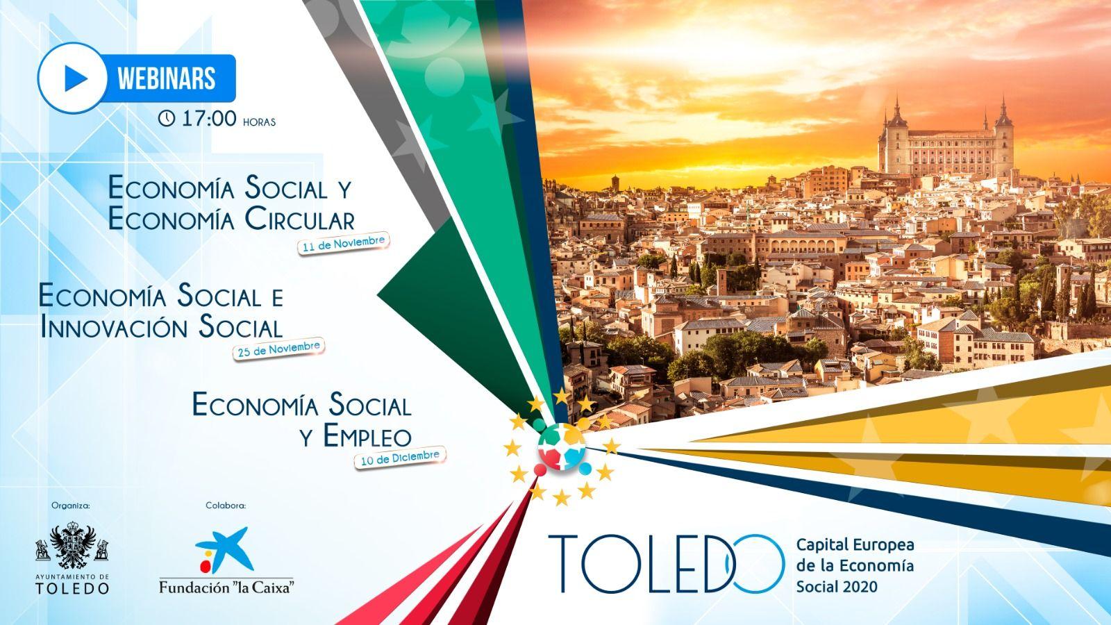 Comienzan los seminarios webs incluidos en el programa de Toledo como Capital Europea de la Economía Social