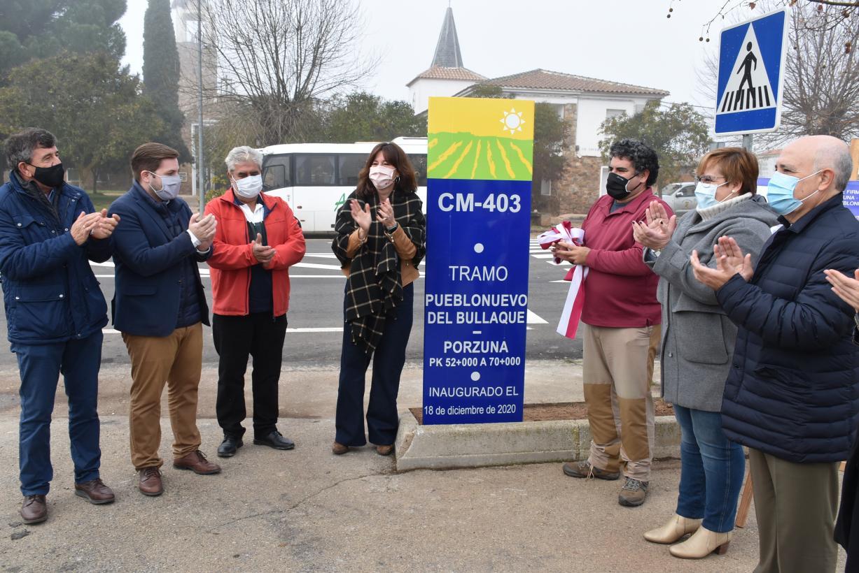 El Gobierno de Castilla-La Mancha ha invertido 1,5 millones de euros en la rehabilitación de la CM-403 entre Pueblonuevo del Bullaque y Porzuna