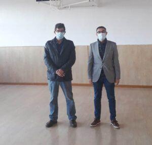 Fernando Muñoz conoce el estado de las obras realizadas por la Diputación en Manzaneque