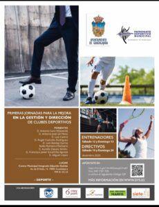 Mañana se inauguran las I Jornadas para la Mejora en la Gestión y Dirección de Clubes Deportivos con ponentes expertos en la materia