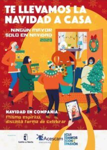El Gobierno de Castilla-La Mancha lleva el espíritu navideño a los hogares de los mayores con la campaña 'Navidad en compañía. Ningún mayor sólo en Navidad 2020'