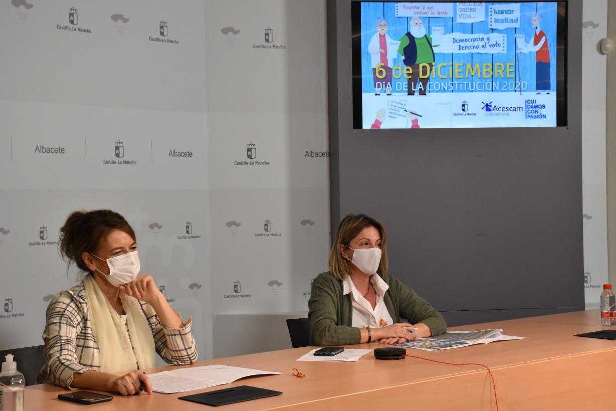 El Gobierno de Castilla-La Mancha conmemora el 42 aniversario de la aprobación de la Constitución Española con las personas mayores