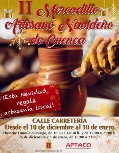Hoy abre sus puertas el II Mercadillo Artesano Navideño de Cuenca en la calle Carretería