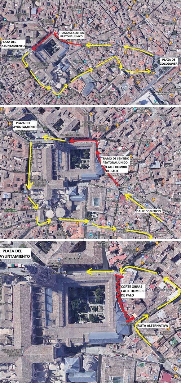 Nuevo circuito peatonal entre las plazas de Zocodover a la Magdalena para evitar aglomeraciones en días festivos