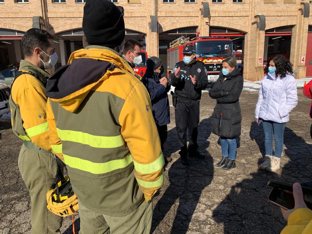 Una brigada más del Ejército, con 123 efectivos, se suma este lunes a las labores de limpieza y retirada de nieve en Toledo