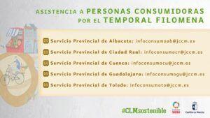 El Gobierno regional facilita a la ciudadanía los mecanismos de reclamación y defensa de sus derechos como consumidores sobre la cobertura de daños derivados de la borrasca Filomena