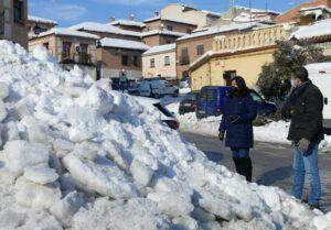 Cs propone retirar la nieve con maquinaria para agilizar la limpieza en Toledo y lamenta la nefasta logística en el reparto de sal