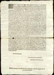 El Archivo Municipal documenta la defensa de la celebración de San Ildefonso emprendida por el Ayuntamiento en el año 1652