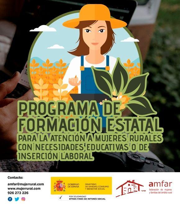 AMFAR recibe 600 solicitudes de mujeres rurales para tres cursos online