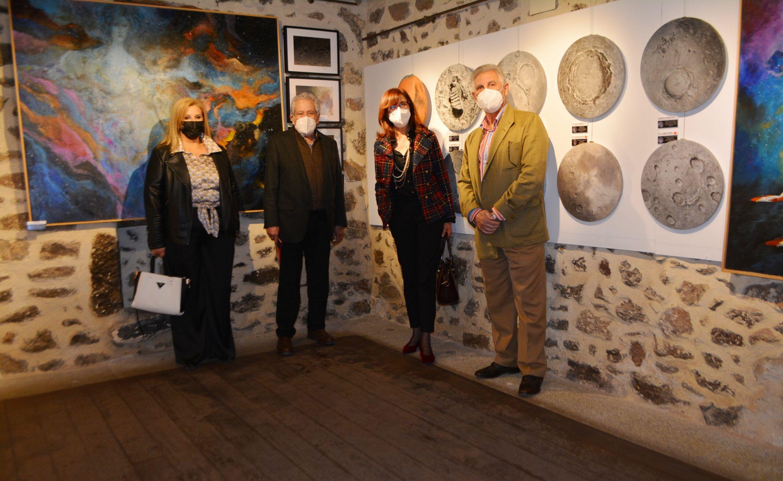 Santa María de Melque ofrece una exposición de 60 obras de pintura y fotografía astronómica inspirada en el sitio histórico