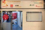Arranca el centro de cribado de la Fundación CEOE para trabajadores de Madrid instalado en la estación de Puerta de Atocha