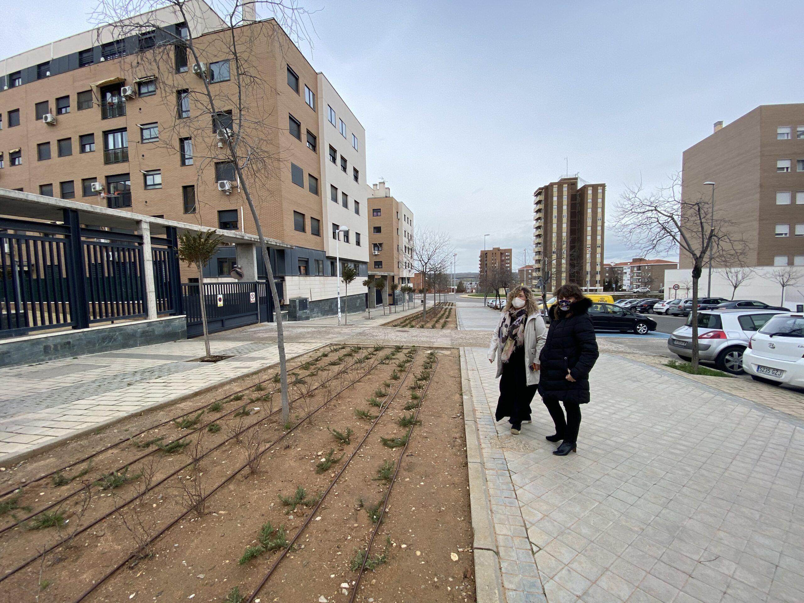 El Ayuntamiento mejora la imagen de la calle Río Valdehuesaa través de un taller del Plan Local de Integración Social