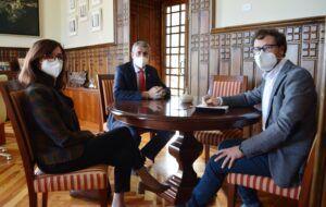 Álvaro Gutiérrez recibe al nuevo gerente del Consorcio Ciudad de Toledo ofreciéndole su colaboración