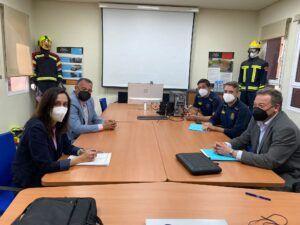 Ayuntamiento y Diputación siguen avanzando el trabajo para la creación del parque supramunicipal de Bomberos en Talavera