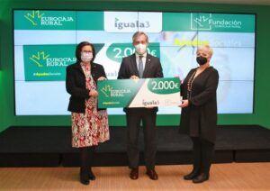 Un programa de rehabilitación itinerante para personas con daño cerebral, de Iguala 3, premiado por la Fundación Eurocaja Rural