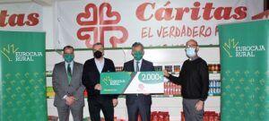 El economato 'Papa Francisco', de Cáritas Interparroquial en Talavera de la Reina, merecedor de una de las 'Ayudas Sociales' de Fundación Eurocaja Rural