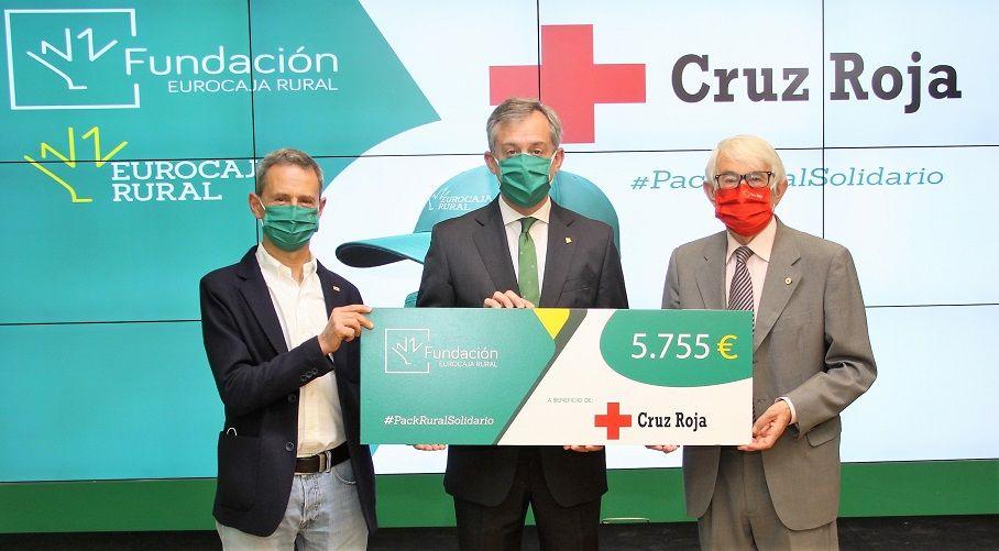 La campaña 'Pack Rural Solidario', de Fundación Eurocaja Rural, obtiene más de 5.700 euros en favor del 'Plan Cruz Roja RESPONDE frente al COVID-19'