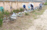 Continúan a buen ritmo los desbroces en la ribera del río para reducir la población de mosquitos en la ciudad