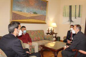 Espinosa ha recibido al nuevo director del Aeropuerto de Albacete