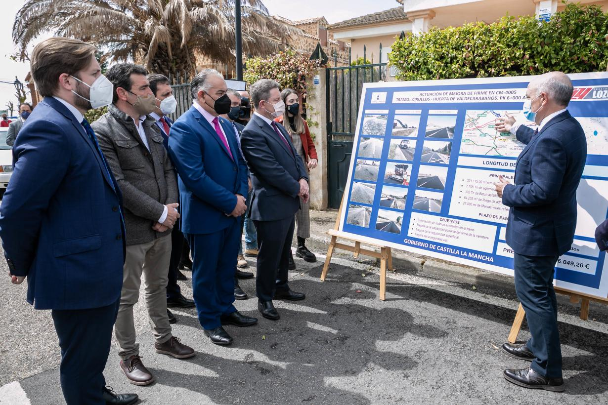 El Gobierno regional lleva a cabo la mejora de la CM-4005 en la zona de influencia de la Mesa de Ocaña