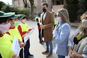 """La alcaldesa arropa al Colegio Infantes en un acto de recuerdo a Pablo y Beltrán y destaca su """"lección de solidaridad"""""""