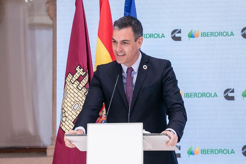 Sánchez subraya la apuesta de España por convertirse en el polo industrial europeo del hidrógeno verde