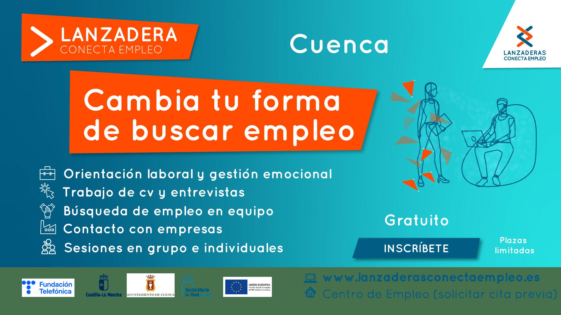 Últimos días para apuntarse a la Lanzadera Conecta Empleo de Cuenca