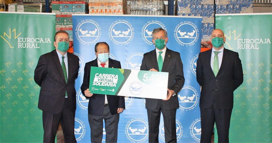 Fundación Eurocaja Rural entrega cerca de 5.500 euros al Banco de Alimentos de Ciudad Real, como beneficiario de la Carrera Virtual Solidaria 2020