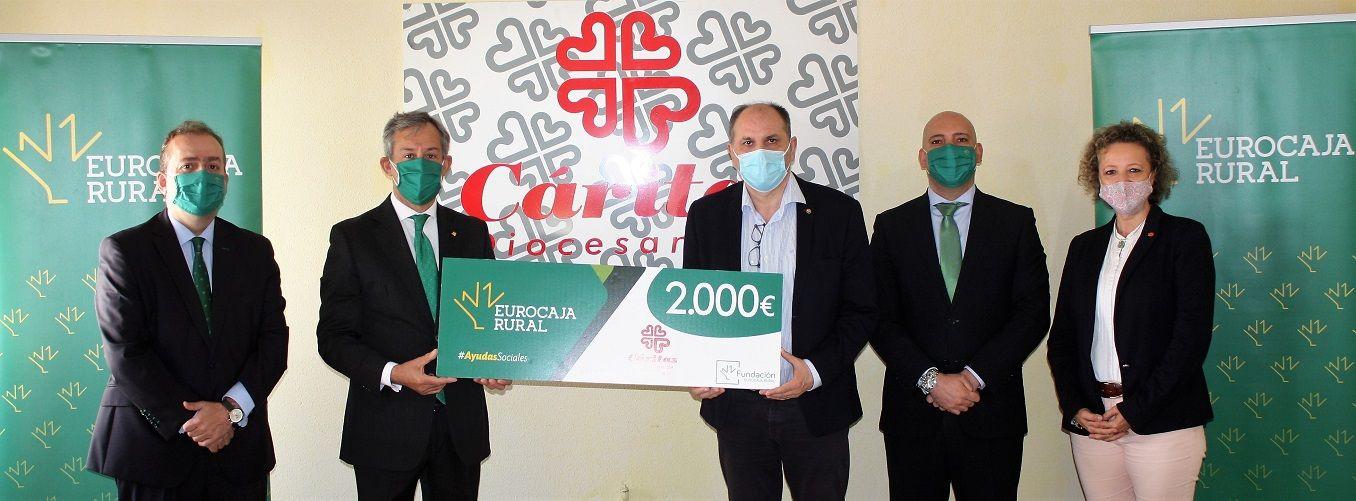 40 personas sin hogar se beneficiarán de una 'Ayuda Social' donada por Fundación Eurocaja Rural a Cáritas Diocesana en Daimiel