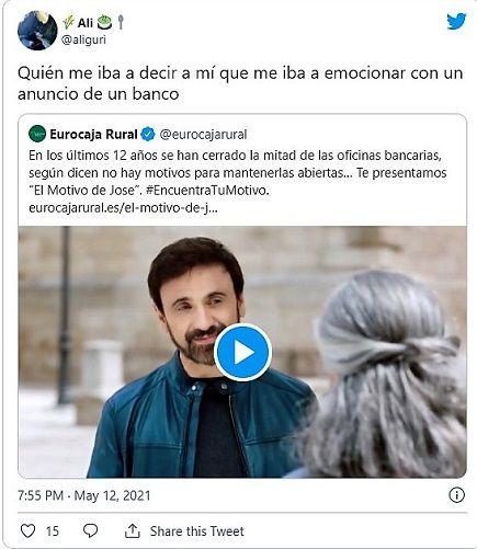 La campaña de Eurocaja Rural 'El Motivo de Jose' arrasa en redes sociales