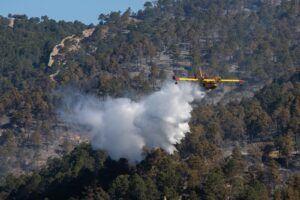 El Gobierno de España dispone un importante dispositivo de apoyo en Castilla-La Mancha para prevención y extinción de incendios forestales
