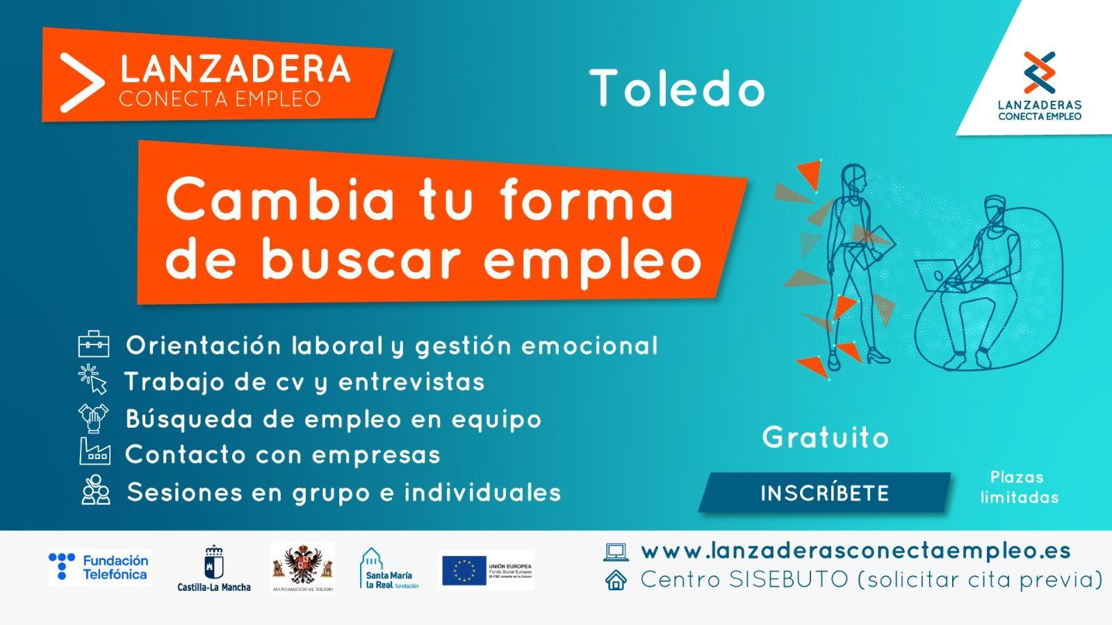 Últimos días para apuntarse a la Lanzadera Conecta Empleo de Toledo, cuyo plazo de inscripción finaliza el 28 de mayo