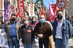 """Cabañero subraya que """"el PSOE está donde siempre ha estado: junto a los trabajadores y trabajadoras y junto a los sindicatos, defendiendo los servicios públicos y los derechos sociales"""""""