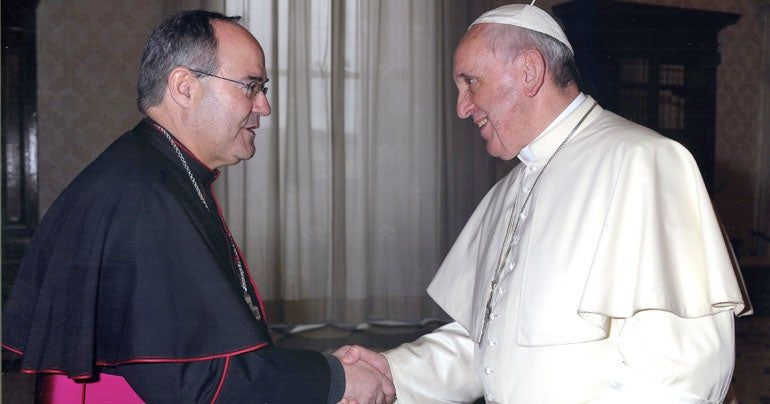 El Papa Francisco ha recibido hoy en audiencia privada al Sr. Arzobispo