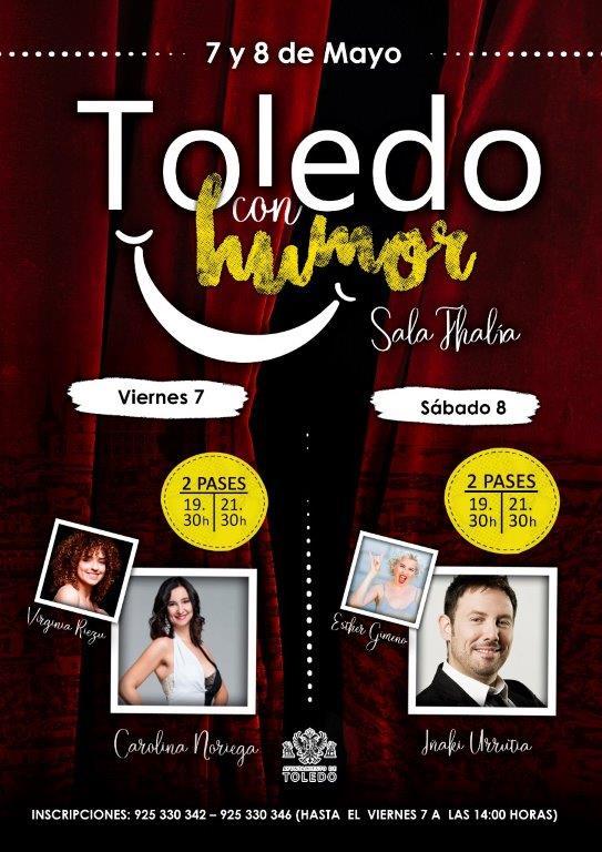 Las propuestas culturales del Ayuntamiento para mayo arrancan este fin de semana con el Festival 'Toledo, con humor'