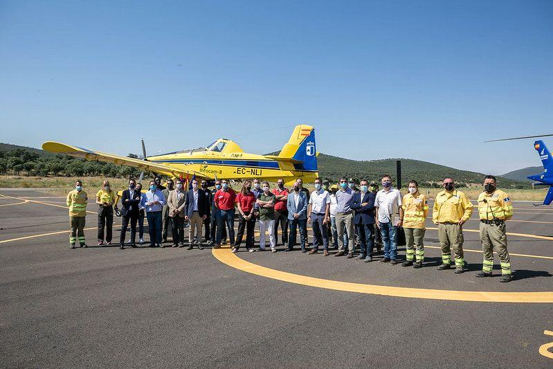 El Gobierno regional refuerza sus infraestructuras frente a los incendios forestales invirtiendo casi un millón de euros para mejorar la base aérea de Quinto de Don Pedro