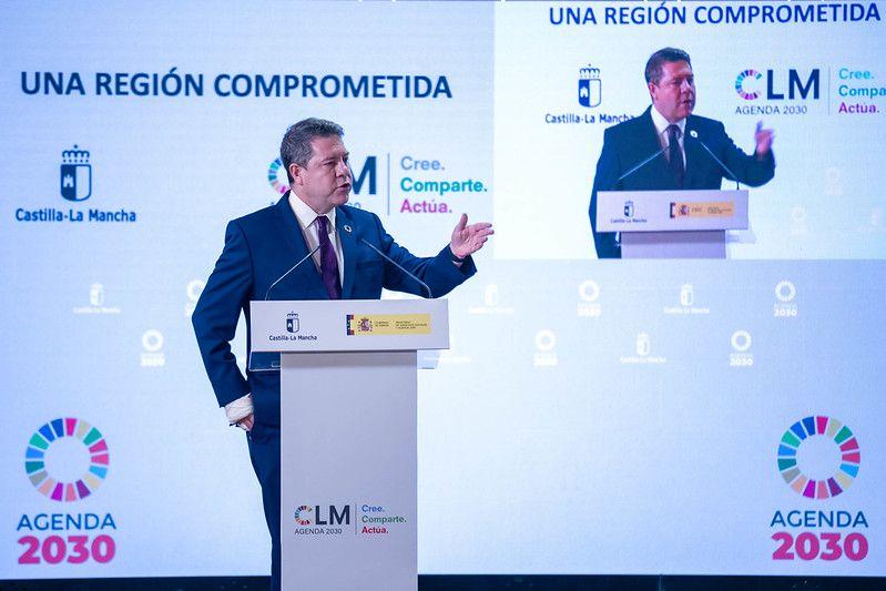 García-Page anuncia que los presupuestos regionales de 2022 estarán alineados con los objetivos de desarrollo sostenible de la Agenda 2030