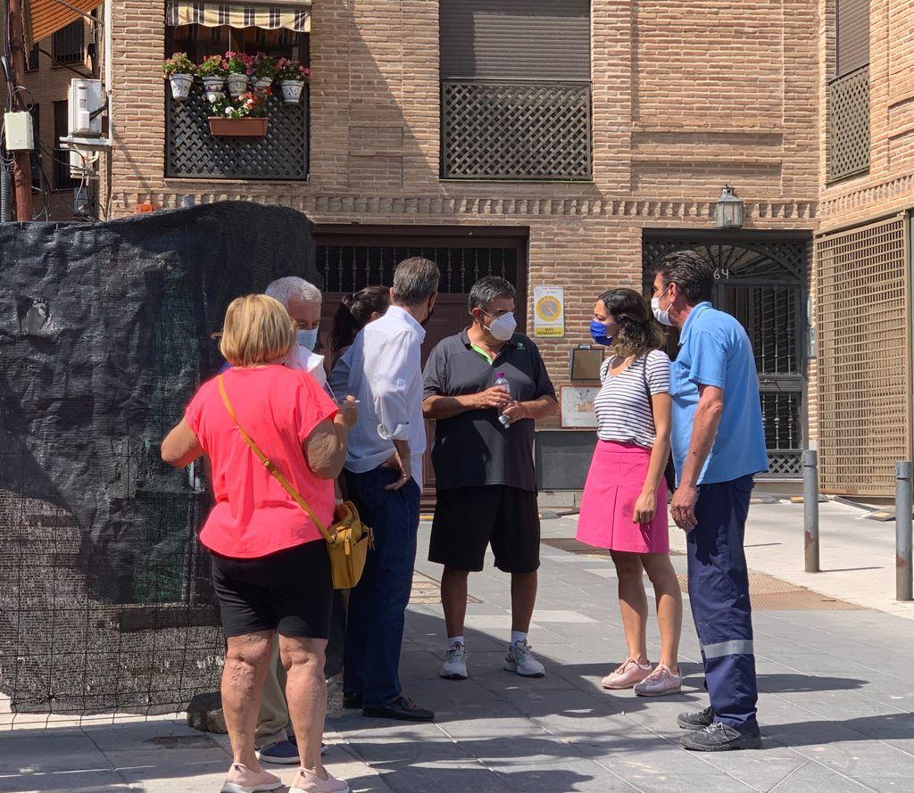 Alonso pide a Tolón mayor vigilancia en las obras que se realizan en la ciudad y que atienda a los vecinos