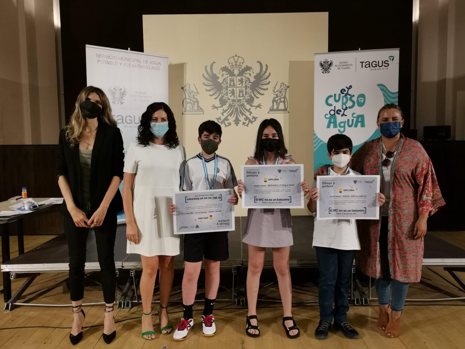 El Ayuntamiento y Tagus entregan los premios del IV Concurso Escolar de Dibujo y Pintura con el lema 'El WC no es un basurero'
