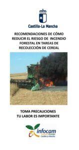 El Gobierno regional hace una serie de recomendaciones a seguir en la campaña estival de recolección agrícola para evitar incendios en el medio natural