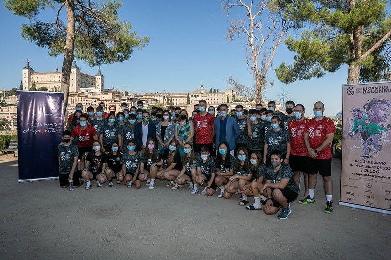 El Gobierno regional trabajará para que el Campus de Balonmano 'Gonzalo Pérez de Vargas' se instale en Castilla-La Mancha de manera permanente