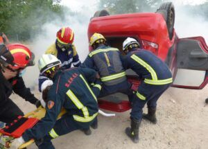Integrantes de los cuerpos de bomberos de la región se forman en la atención sanitaria de emergencia para primeros intervinientes