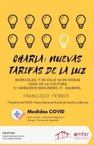 """AMFAR organiza una charla sobre las """"Nuevas Tarifas de la Luz"""" en Daimiel"""
