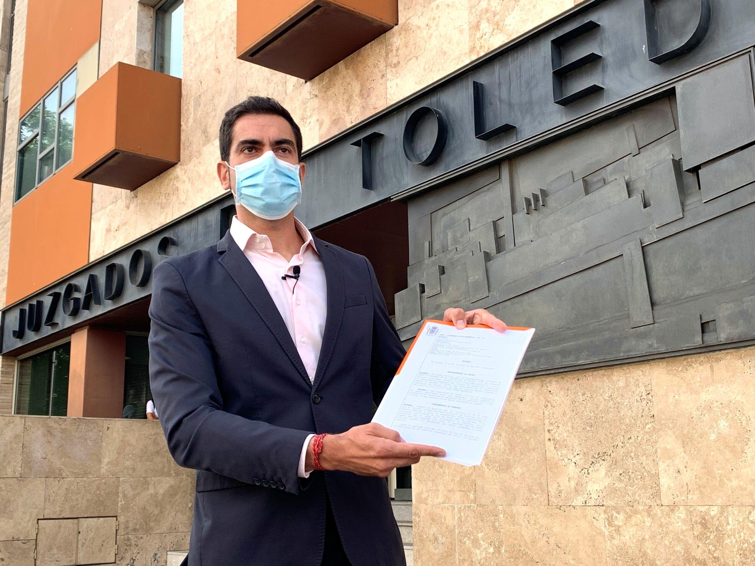 Un juzgado de Toledo admite a trámite el recurso del Grupo Cs contra la Diputación por vulnerar su derecho fundamental de representación política