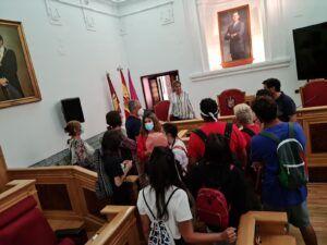 La alcaldesa recibe a alumnos del Erasmus+ de artes escénicas del IES Princesa Galiana y del centro italiano Liceo Orioli de Viterbo