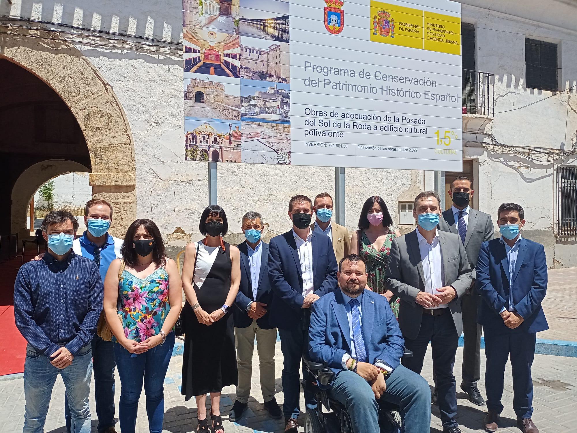 Tierraseca pone la primera piedra en las obras de recuperación de la Posada del Sol, en La Roda