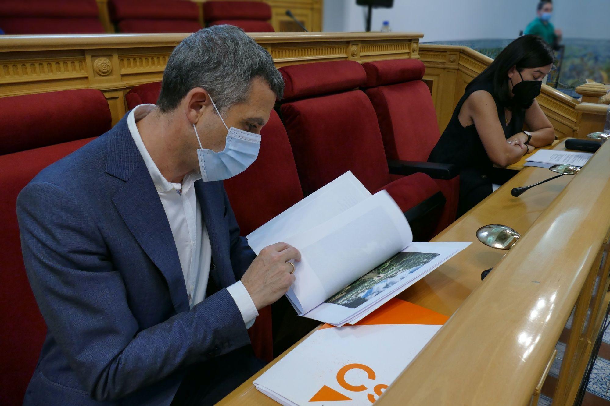 """Paños: """"El PSOE y el no adscrito cometen un error al rechazar la moción de Cs para mejorar la infraestructura en el Casco de Toledo"""""""