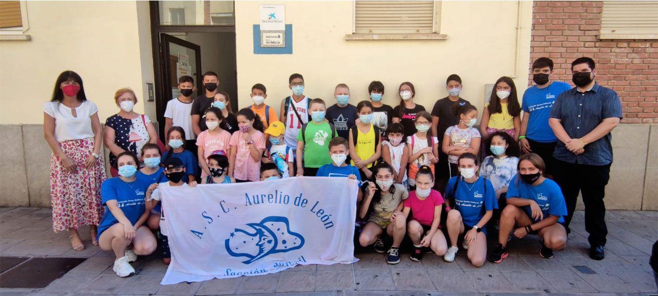El equipo de Gobierno colabora con la Asociación Aurelio de León para que niños y niñas participen en un proyecto de convivencia solidaria
